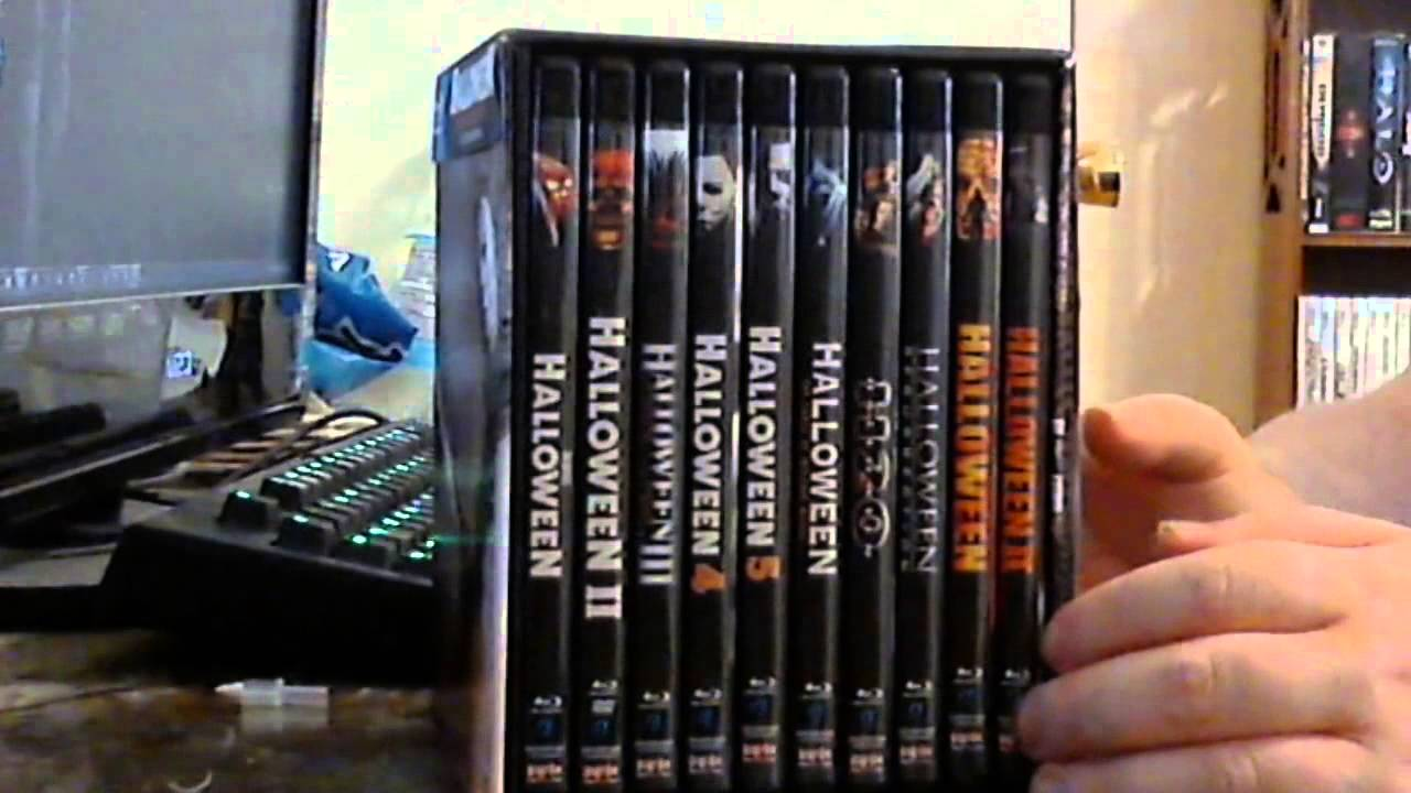 halloween complete collection 15 disc blu-ray box set unboxing [hd