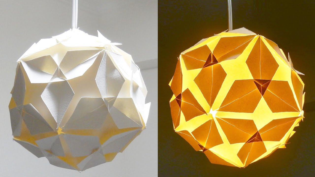 DIY lamp (diamond ball) - how to make a lampshade/lantern ...