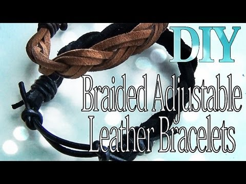 DIY Fashion ♥ Adjustable Braided Leather Bracelets