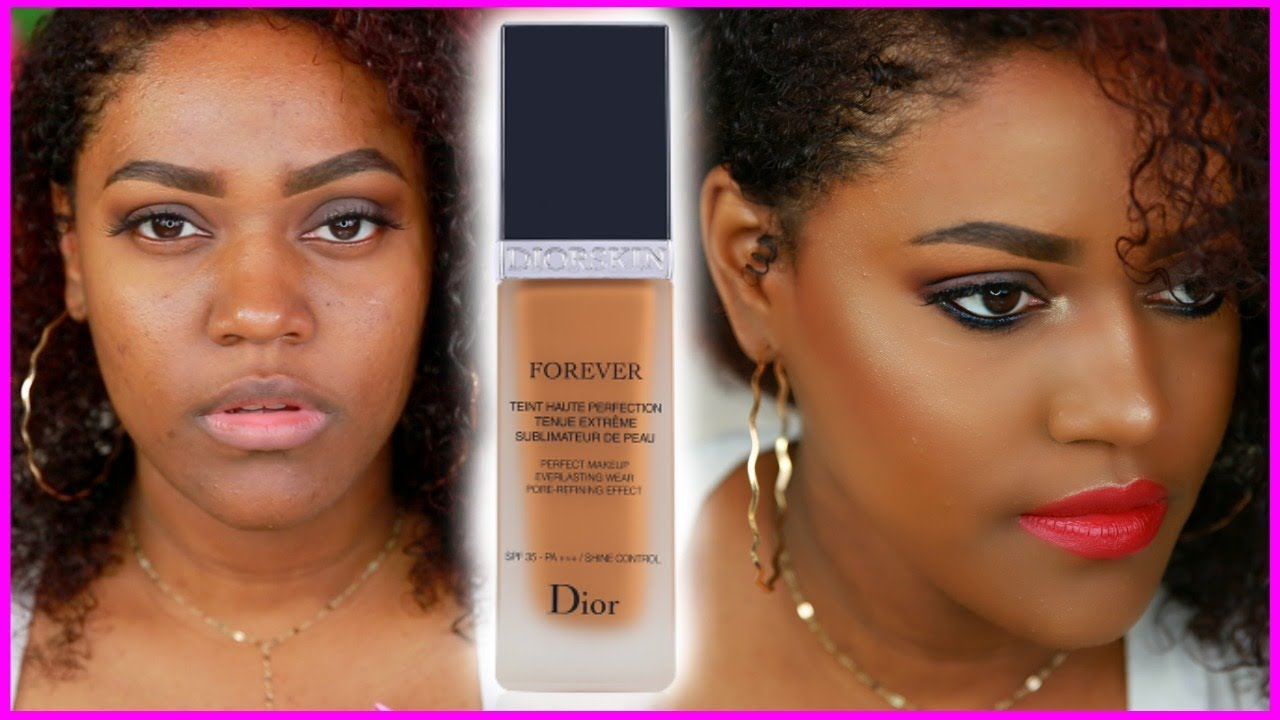 DIOR FOREVER FOUNDATION REVIEW + DEMO | dark SKin - YouTube