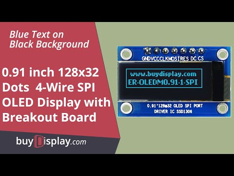 "Serial SPI Blue 0.91"" inch Arduino,Raspberry Pi OLED Display 128x32"