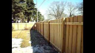 Northland Fence Cedar Batten Board Privacy Fence Robbinsdale, Mn