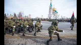 Необычное выступление ангольских военных на Соборной площади Омска