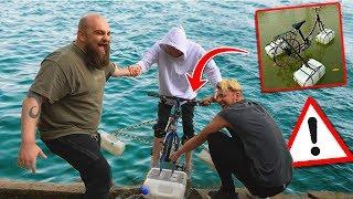 EXPERIMENT: Schwimmbares Fahrrad bauen ! Gadget Fun !