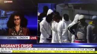Selam Kidane from the StopSlaveryInEritrea Campaign on SKY NEWS
