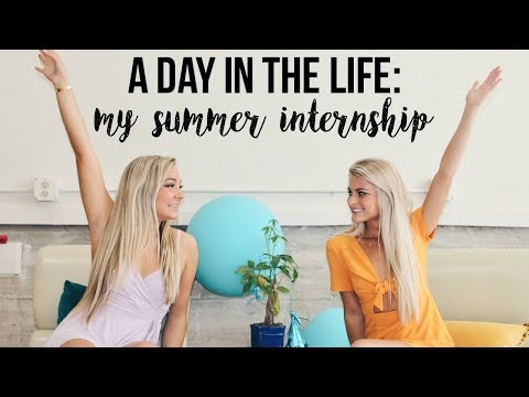 A Day in the Life of MY SUMMER INTERNSHIP!