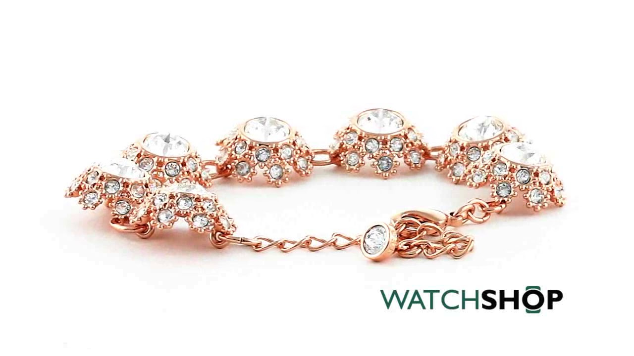 844d89eab Ladies Ted Baker Gold Plated Seah Crystal Daisy Lace Bracelet  (TBJ1581-24-02)