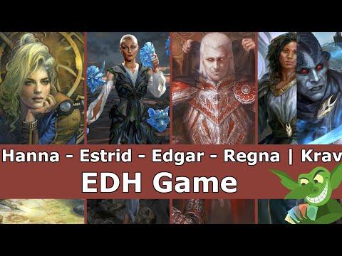 Hanna vs Estrid vs Edgar vs Regna | Krav EDH / CMDR game play for Magic: The Gathering