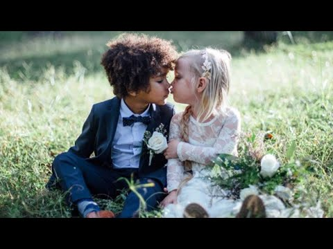 "Moms Stage Adorable ""Wedding"" Photos for Their Children, 3 and 5"
