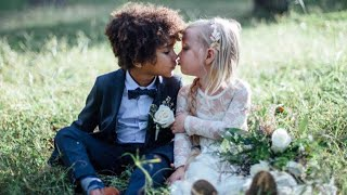 """Moms Stage Adorable """"Wedding"""" Photos for Their Children, 3 and 5"""
