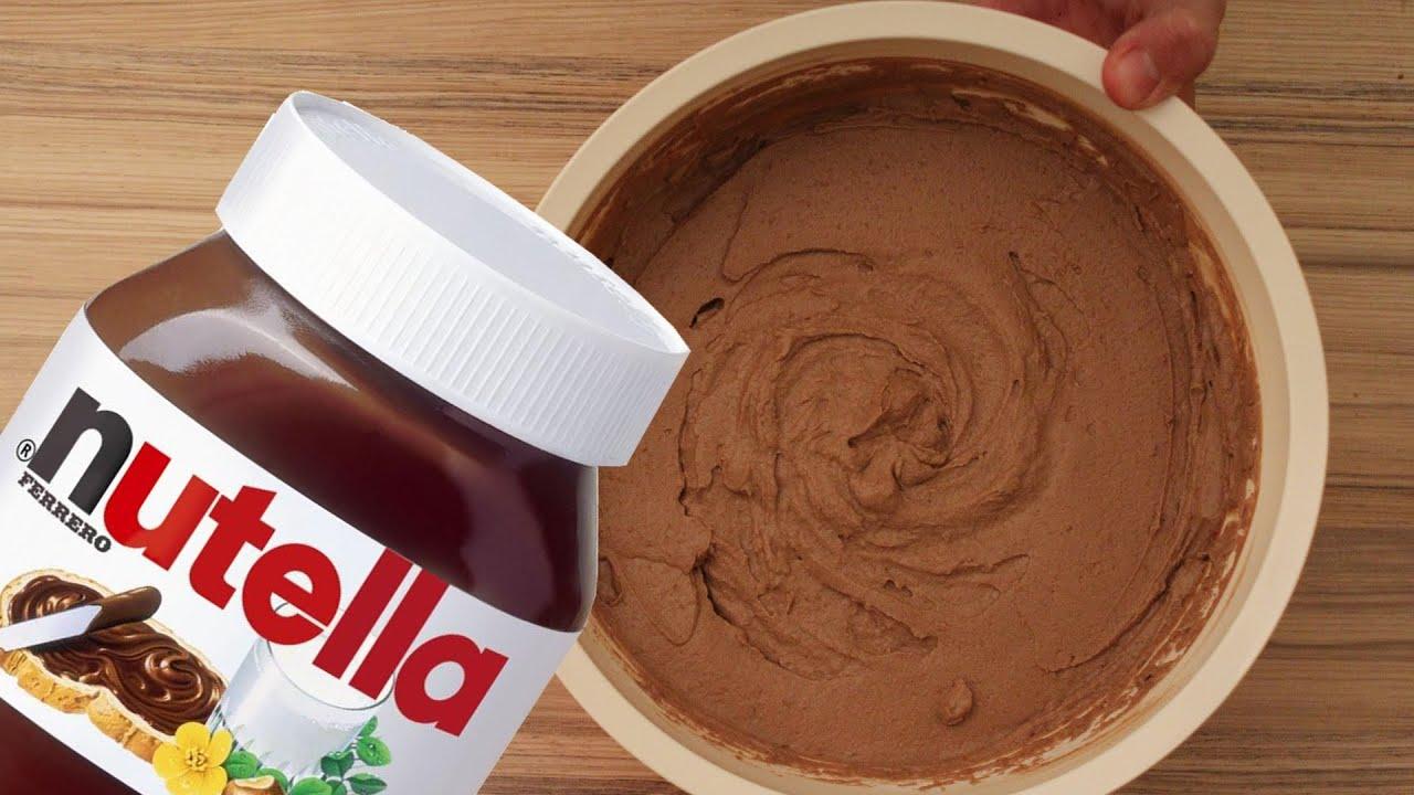 Tortencreme mit Nutella selber machen einfache Schokocreme
