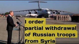 Putin to Russian Soldiers: The Homeland is proud of you! You are returning victorious to your homes!