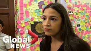 Alexandria Ocasio-Cortez says Trump 'relies on racism, anti-immigrant sentiment'