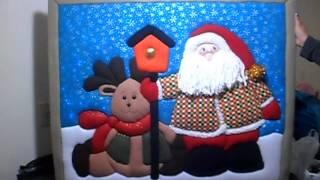 cuadro navidad patchwork