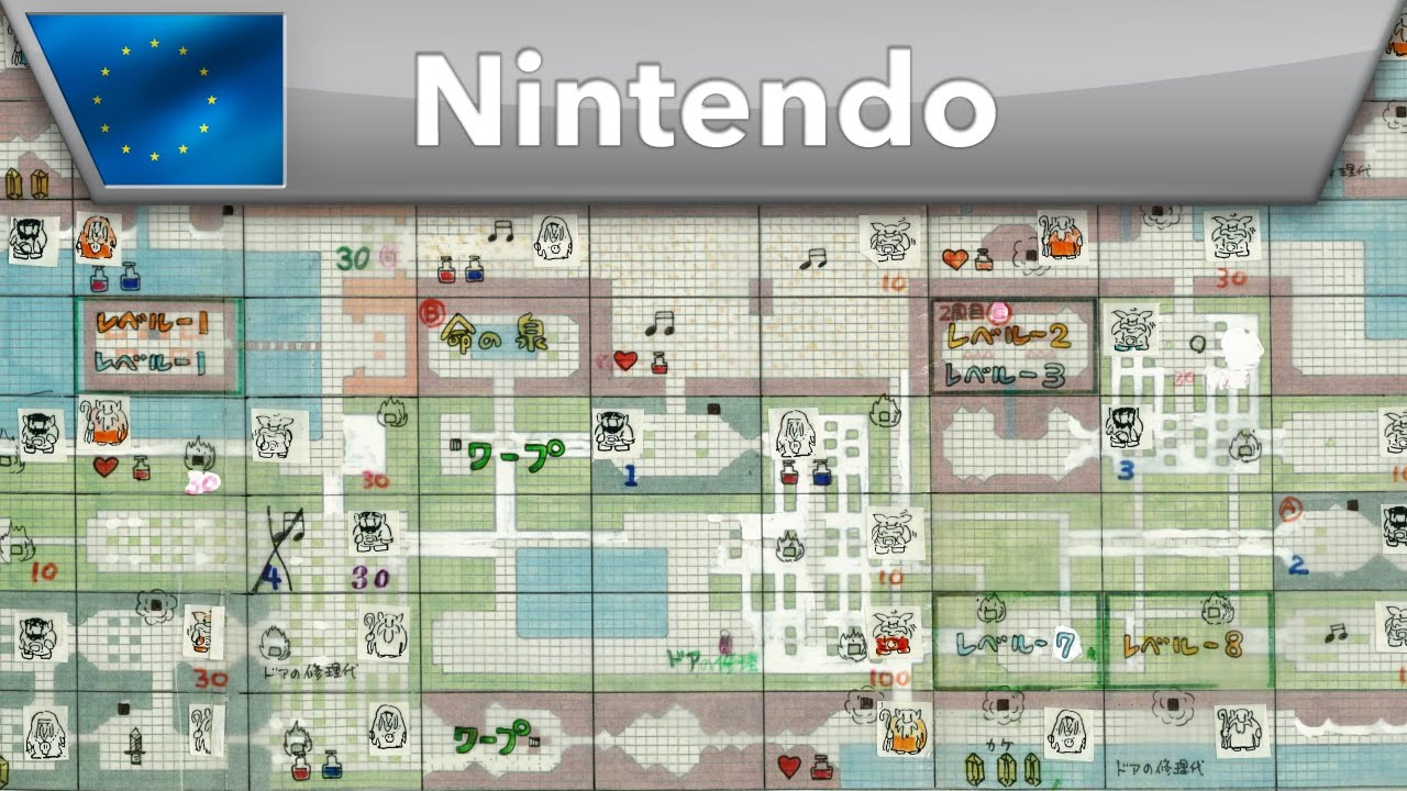 The Legend of Zelda - Original game map - YouTube