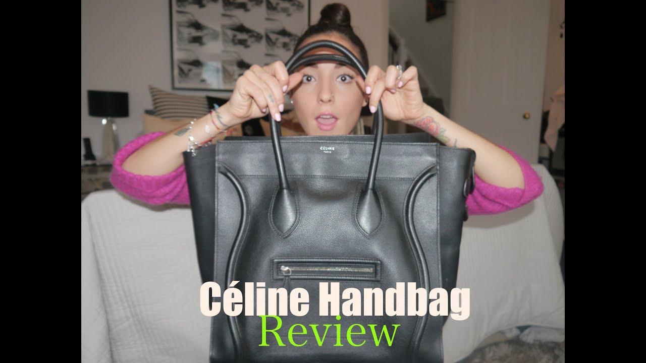 Handbag Review No3 | C¨¦line Luggage Tote | SoTotallyVlog - YouTube