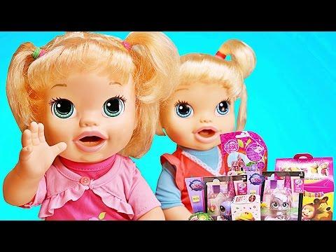 Куклы Пупсики Покупки для Беби Элайв. Аня и Катя Открывают сюрпризы Кот Том. Зырики ТВ
