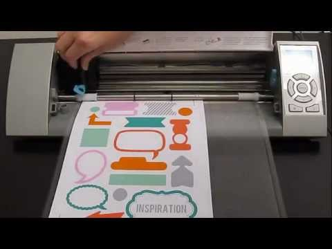 Printing Stickers With Silhouette