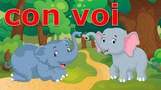 Dạy bé học nói các con vật tiếng việt   em tập đọc tên các loài động vật   Dạy trẻ thông minh sớm