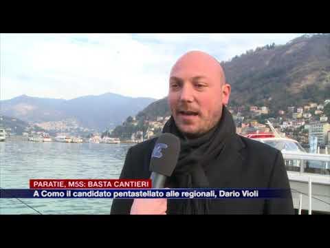 "Etg - Paratie, M5S: ""Basta cantieri"". A Como il candidato alle regionali Dario Violi"
