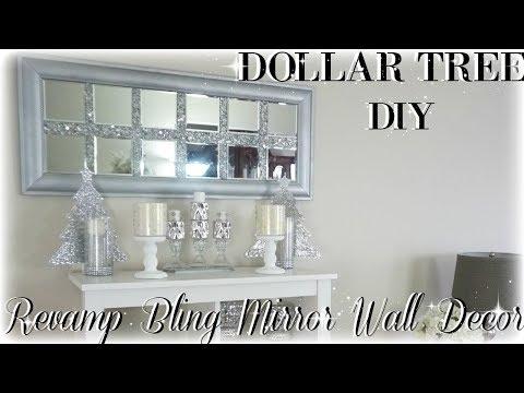 DIY BLING REVAMP MIRROR WALL DECOR | DIY DOLLAR TREE MIRROR WALL ART DECOR | HOME DECOR