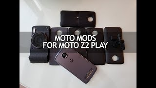 Moto Mods for Moto Z2 Play- Hands on