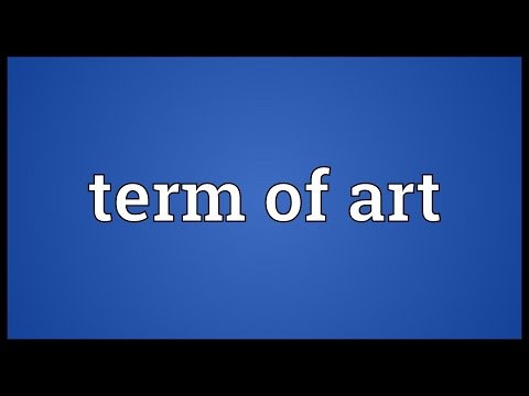 Term of art Meaning