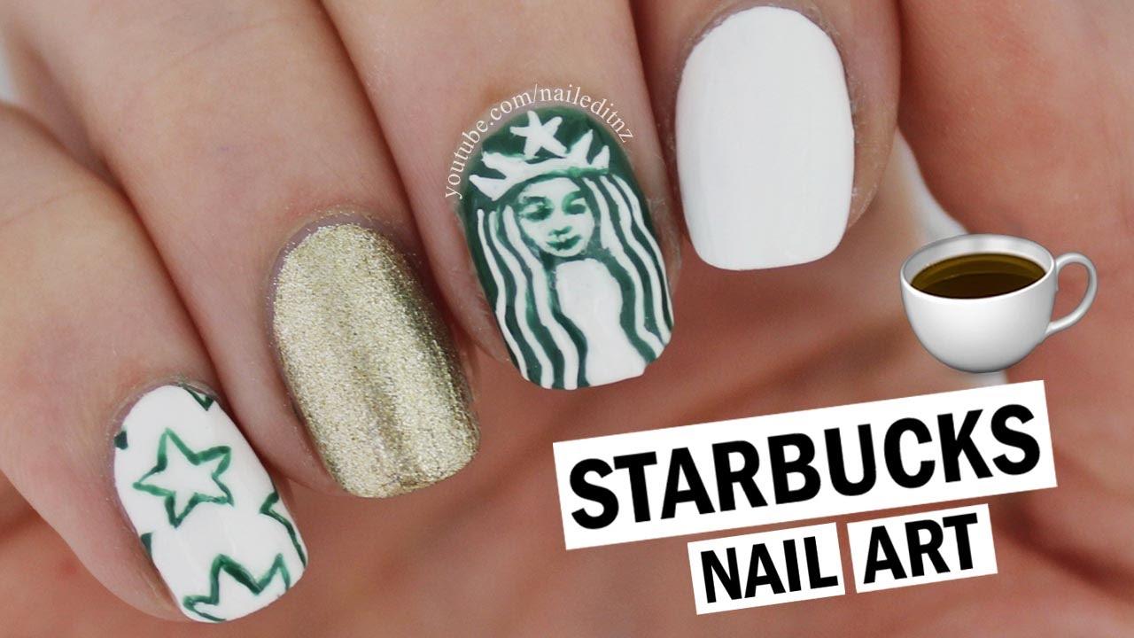 Starbucks Nail Art Nailed It Nz Youtube
