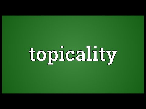 Header of topicality