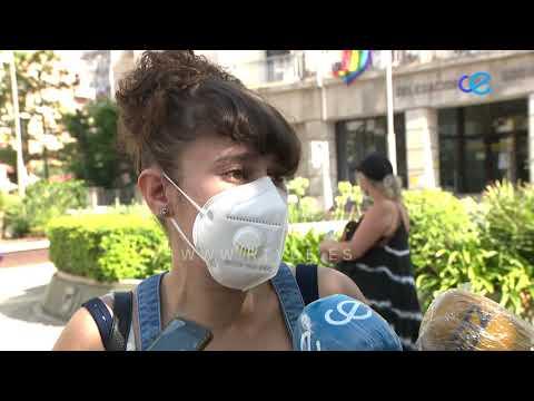 Protesta ante Delegación de los trabajadores del Plan de Empleo