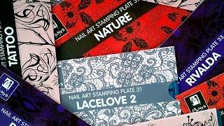 Nail Stamping - Moyra Stamping Plates No. 31-34
