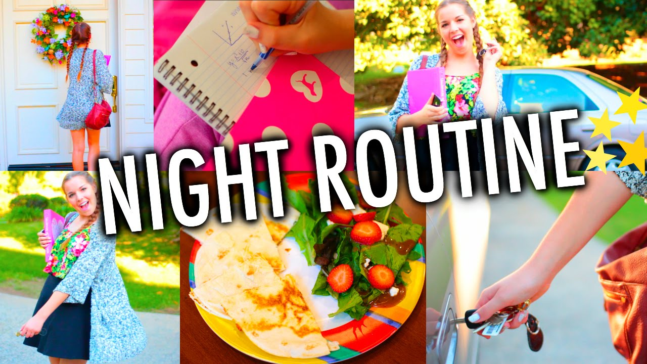 Night Routine for School! - YouTube