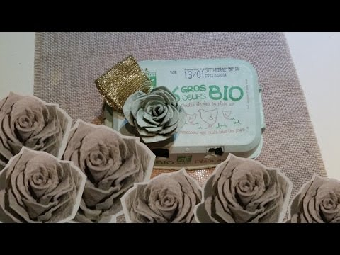 Diy Roses En Boites D Oeufs Roses With Egg Carton Youtube