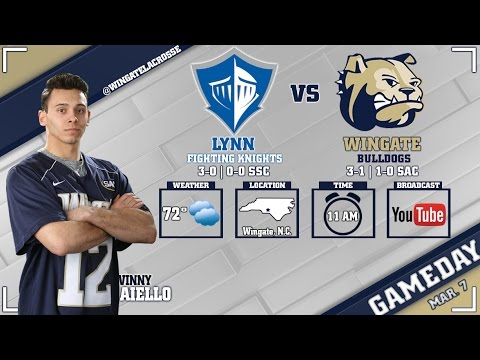 2017 NCAA Division II Men's Lacrosse - Lynn at Wingate