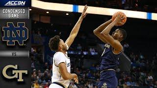 Notre Dame vs.Georgia Tech  Condensed Game | 2018-19 ACC Basketball