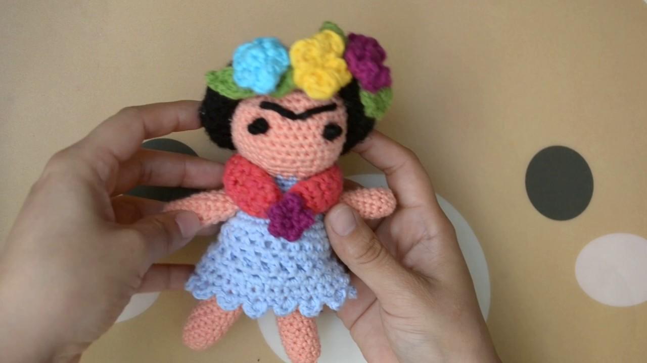 Amigurumis De Frida Kahlo : Frida kahlo amigurumi tejidas a crochet c prendedor