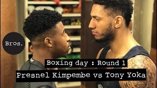 TONY YOKA VS PRESNEL KIMPEMBE  | Boxing Day ⚽️🥊  | Round 1