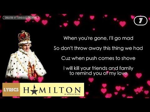 #7 Hamilton - You'll Be Back (VIDEO LYRICS)