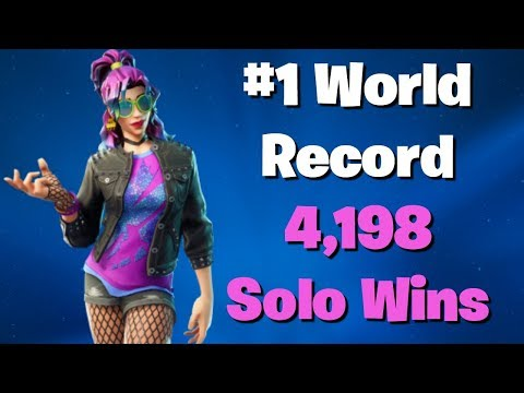 #1 World Record 4,198  Solo Wins Fortnite Live Battle Royale New Update