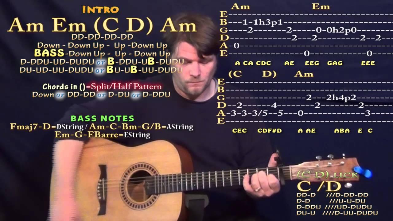 Sugar Robin Schulz Guitar Lesson Chord Chart   Capo 15st