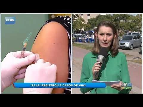 Itajaí registra 5 casos de H1N1