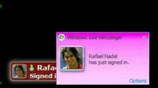 Rafael Nadal Using MSN !! Signing Into Windows Live Messenger !!