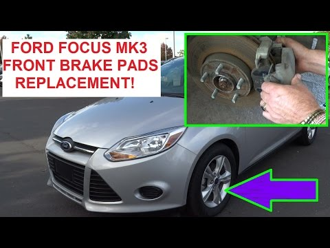 front brake pads replacement ford focus 2012 2013 2014. Black Bedroom Furniture Sets. Home Design Ideas