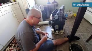 Stand alone a.c. exhaust fan removal