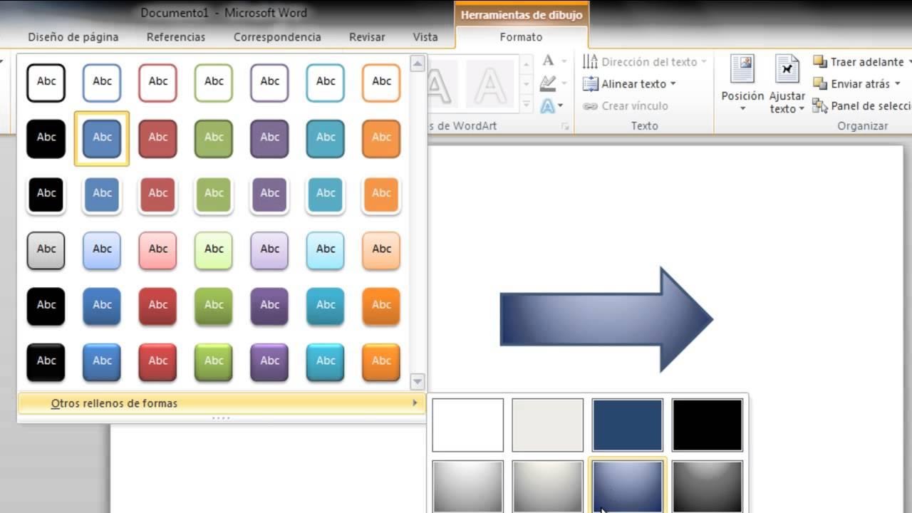 Como trabajar con formas en Microsoft word 2010 - YouTube