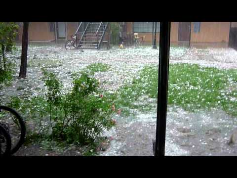 "Hail storm OKC - Hail of a storm!  Just ""lovely May weather"" in Oklahoma City May 16, 2010"