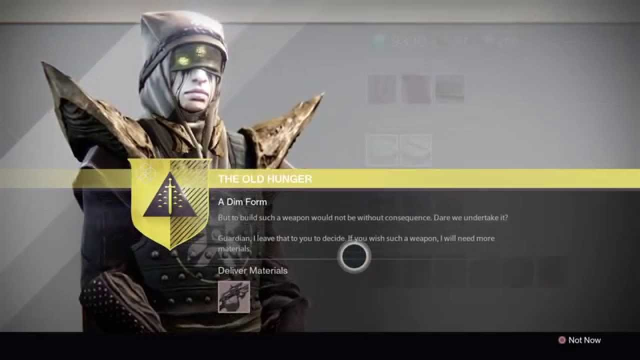 Destiny - Touch of Malice Quest Part 5: The Old Hunger - Spoils of ...