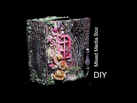 Mixed Media Box имитация дерева\Коробка в стиле микс медиа