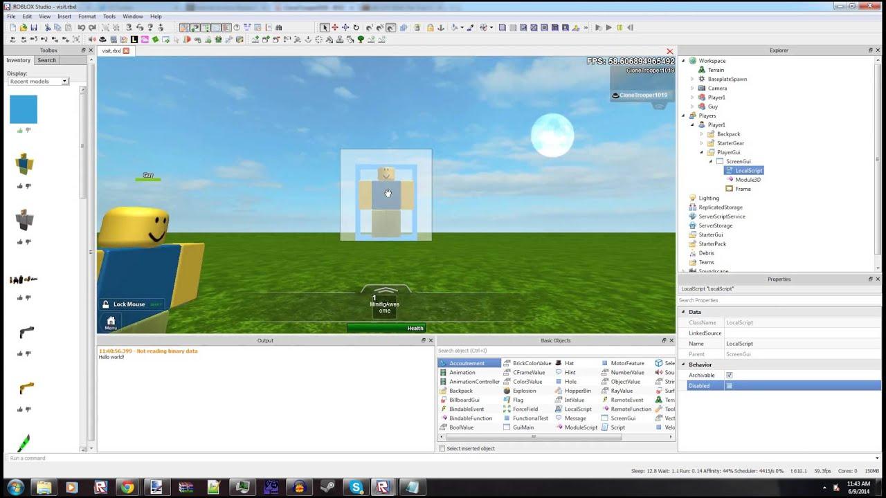 Roblox - 3D Gui Module: An Example Tutorial