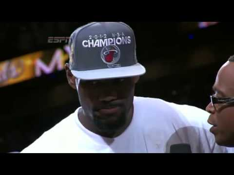 LeBron James Receives the 2012 Finals MVP